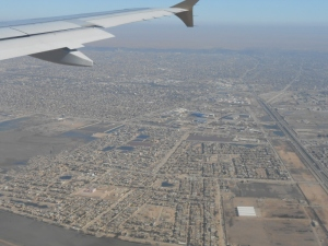 Flying into Basra